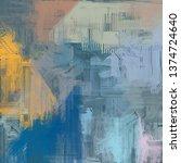abstract texture. 2d... | Shutterstock . vector #1374724640