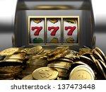 3d illustrations of slot... | Shutterstock . vector #137473448