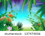 looking through the jungle ... | Shutterstock .eps vector #137474036