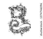 lettering  b  victorian | Shutterstock .eps vector #1374746096