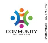 community logo icon | Shutterstock .eps vector #1374753749