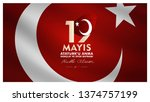 19 may  commemoration of atat...   Shutterstock .eps vector #1374757199