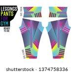 leggings pants for gym | Shutterstock .eps vector #1374758336
