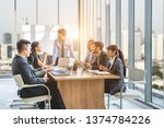 businesspeople discussing... | Shutterstock . vector #1374784226