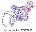 rider  vector illustration on... | Shutterstock .eps vector #137478890