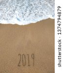 New Year 2019 On The Sandy...