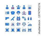 police icon set vector with...   Shutterstock .eps vector #1374795176