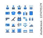 flat police icon set vector in...   Shutterstock .eps vector #1374795179