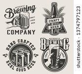 vintage monochrome brewery... | Shutterstock .eps vector #1374797123