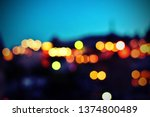 beautiful blurry bokeh abstract ... | Shutterstock . vector #1374800489