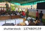 Small photo of Wates,Yogyakarta-April 20 2019: 2019 elections recapitulation process at the sub-district level,Wates,Kulon Progo area.