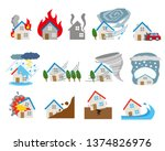 housing which meets damage by...   Shutterstock .eps vector #1374826976