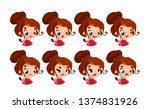 set emotions. facial expression.... | Shutterstock .eps vector #1374831926