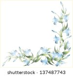 greeting card with a lily. lily ... | Shutterstock .eps vector #137487743