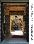 Small photo of THESSALONIKI, GREECE - AUGUST 13, 2014: Monastery of St.Theodora Thessalonica, entrance to arch