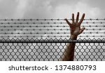 ban on immigration and refugee... | Shutterstock . vector #1374880793