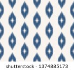 ikat seamless pattern in... | Shutterstock .eps vector #1374885173
