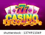 casino banner and money....