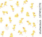 childish pattern with little...   Shutterstock .eps vector #1374912770