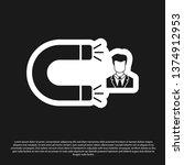 black customer attracting icon... | Shutterstock .eps vector #1374912953