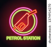 gas petrol station neon sign... | Shutterstock .eps vector #1374914270