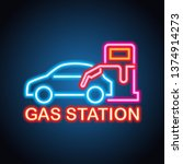 gas petrol station neon sign... | Shutterstock .eps vector #1374914273