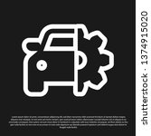 black car service icon isolated ... | Shutterstock .eps vector #1374915020