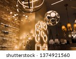 various chandeliers warm led... | Shutterstock . vector #1374921560