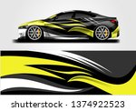 car wrap designs vector .... | Shutterstock .eps vector #1374922523