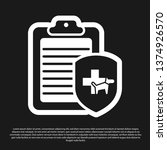 black clipboard with medical... | Shutterstock .eps vector #1374926570