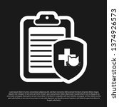 black clipboard with medical... | Shutterstock .eps vector #1374926573