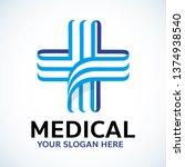 medical cross health logo... | Shutterstock .eps vector #1374938540