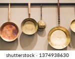 medieval style of bronze frying ... | Shutterstock . vector #1374938630