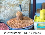 georgian spices at the market... | Shutterstock . vector #1374944369