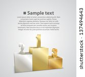 gold  silver and bronze podium...   Shutterstock .eps vector #137494643