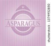 asparagus realistic pink emblem   Shutterstock .eps vector #1374952850