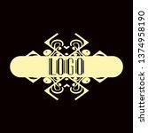 luxury antique modern art deco...   Shutterstock .eps vector #1374958190