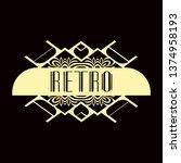 luxury antique modern art deco...   Shutterstock .eps vector #1374958193