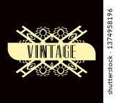 luxury antique modern art deco...   Shutterstock .eps vector #1374958196