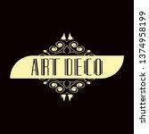 luxury antique modern art deco...   Shutterstock .eps vector #1374958199