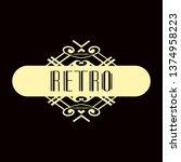 luxury antique modern art deco...   Shutterstock .eps vector #1374958223
