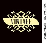 luxury antique modern art deco...   Shutterstock .eps vector #1374958226