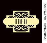 luxury antique modern art deco...   Shutterstock .eps vector #1374958229