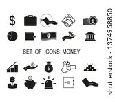 set of icons money. simple... | Shutterstock .eps vector #1374958850