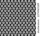 monochrome pattern  a kind of... | Shutterstock .eps vector #1374965189