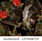 embroidery two griffins and... | Shutterstock .eps vector #1374968729