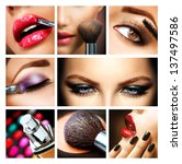make up collage. professional... | Shutterstock . vector #137497586