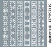 vector set of line borders with ...   Shutterstock .eps vector #1374979610