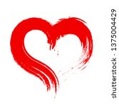 dirty paint of red heart icon... | Shutterstock . vector #1375004429