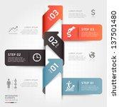 modern business arrow origami... | Shutterstock .eps vector #137501480